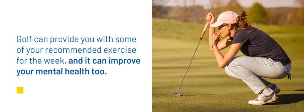 Mental Benefits of Playing Golf graphic
