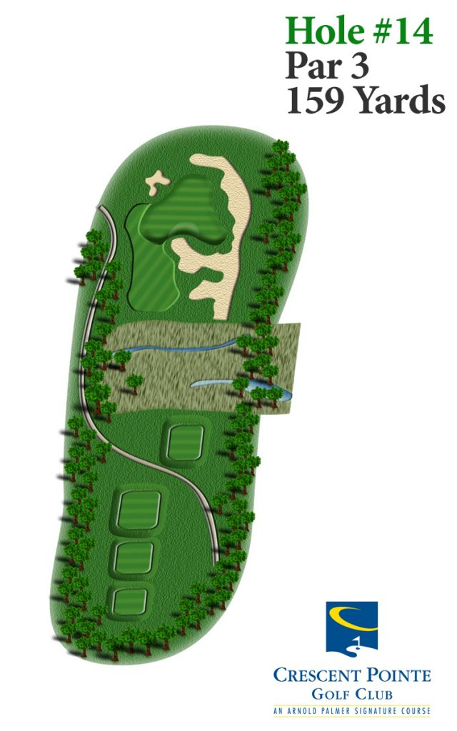 Overview of hole 14