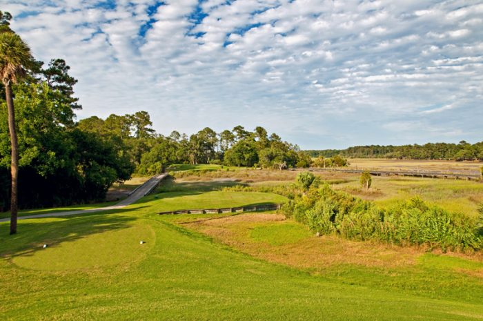 View of the course at Crescent Pointe